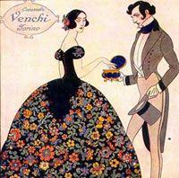 Cofanetto storico delle caramelle Venchi. Fonte: Venchi SPA, Castelletto Stura (CN)