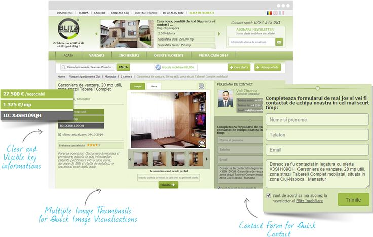 Blitz Imobiliare Real Estate Web Design Design Case Portfolio Case