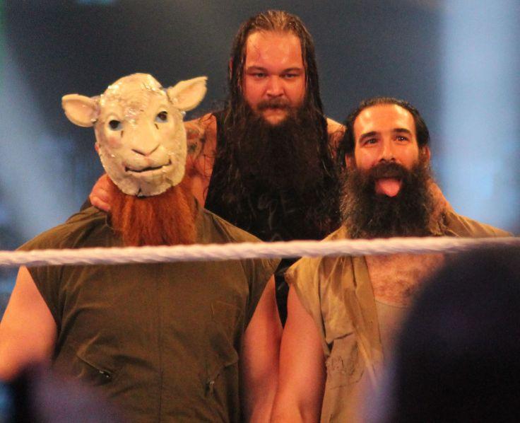 The Wyatt Family (Erick Rowan, Bray Wyatt y Luke Harper) en WWE Wrestlemania XXX / Photo by: Megan Elice Meadows - Flickr.com
