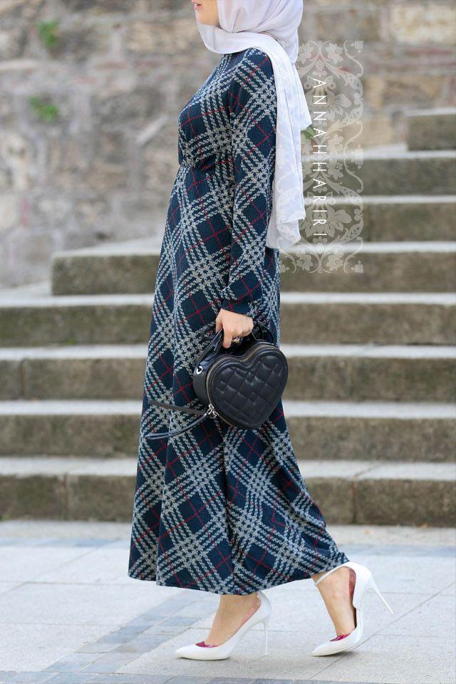 Jersey Plaid Dress | hijab hijabers hijabfashion hijabstyle