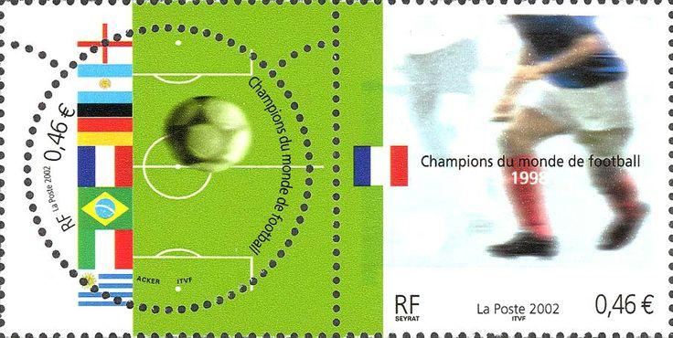 Francobollo dedicato alla vittoria della Francia al Mondiale. Emissione congiunta - Anno 2002