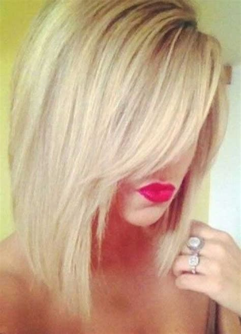 Curly Angled Bob Hairstyle for