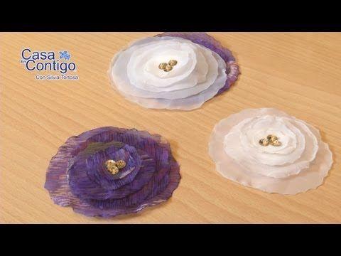 Reciclando: Broche de tela vaquera inspirado en Chanel (Camelia) / DIY Chanel Camelia Denim Brooch - YouTube