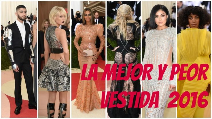 MET GALA 2016: RED CARPET | BEST LOOKS | MEJOR Y PEOR VESTIDOS en la alf...