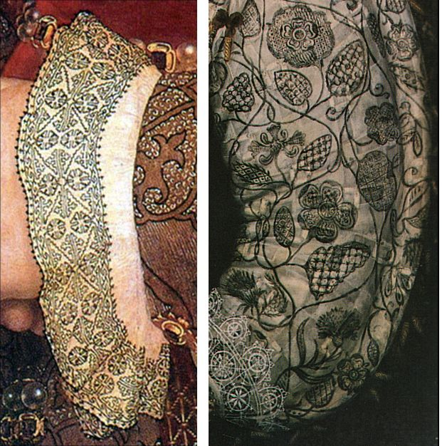 Blackwork embroidery 1530s and 1590s - Blackwork - Wikipedia, the free encyclopedia