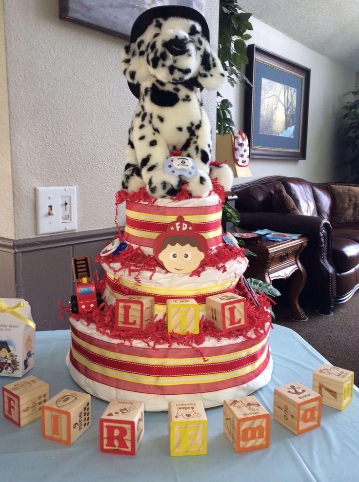 Firefighter Diaper Cake Ideas