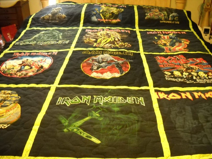 Memory T Shirt Quilt Music Quot Iron Maiden Quot ∆ Want