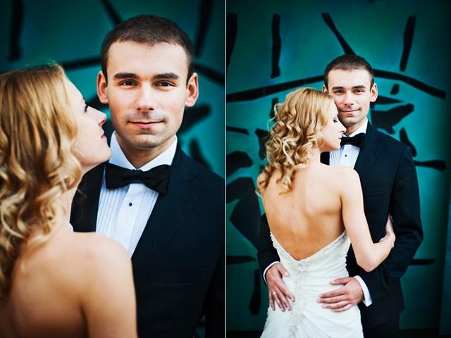 plener ślubny Dominiki i Marcina we Wrocławiu /Dominika and Marcin just after their wedding, Wroclaw, Poland/