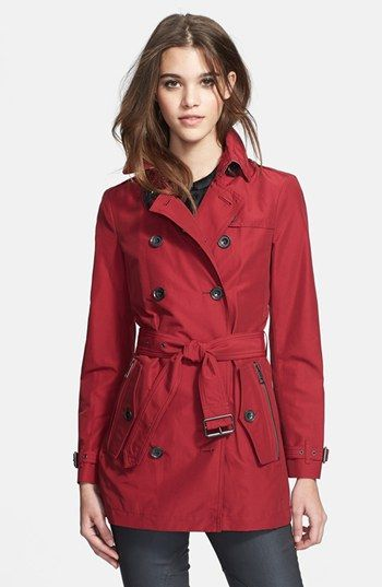 Only $850. Burberry Brit 'Brookesby' Double Breasted Trench Coat available at #Nordstrom