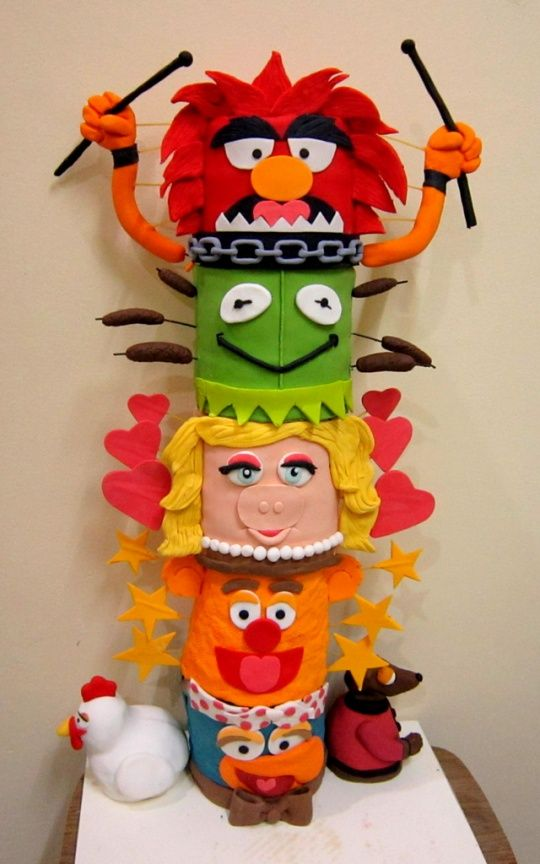 Muppets Friendship Totem Pole Cake ... David would love a muppets cake