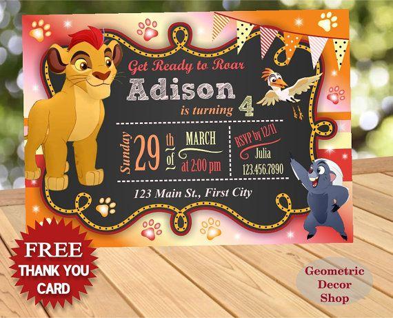 Lion Guard Lion King Digital Birthday by DazzlingPrintables