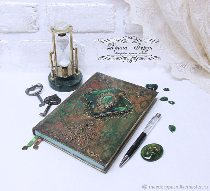 """Купить Ежедневник """"Желание души"""" - Декупаж, ежедневник, зеленый, коричневый, подарок, подарок девушке"""
