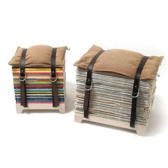 Hockenheimer Sitzhocker aus alten Zeitschriften