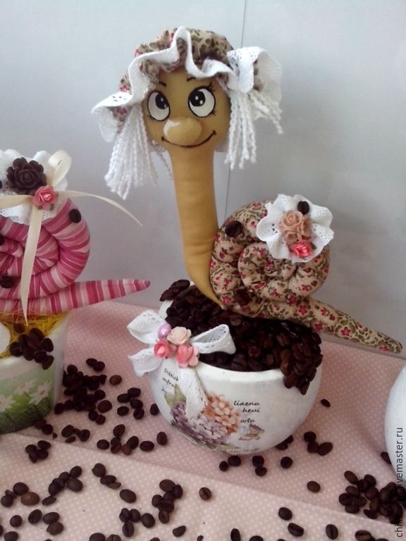 Купить Ароматная тильда Улитка - коричневый, улитка, улитка Тильда, улитка в подарок