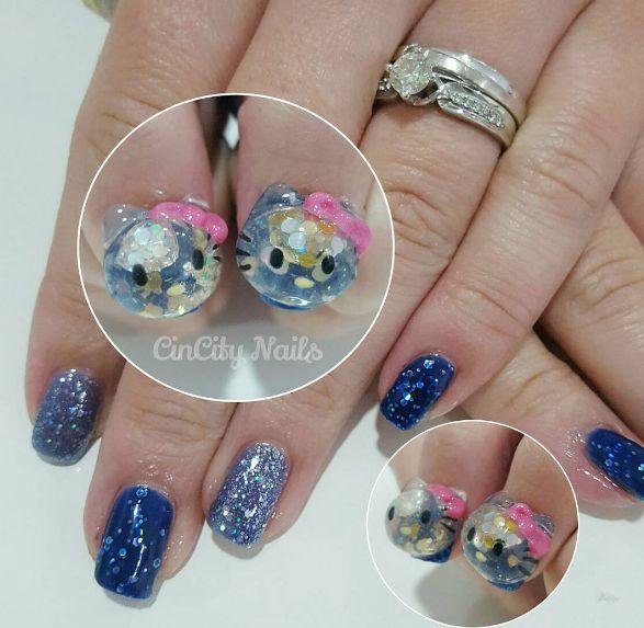 snow globe nail tendência em nail art