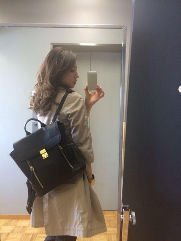 モデル美香さんも3.1フィリップリムのリュックがお気に入り!