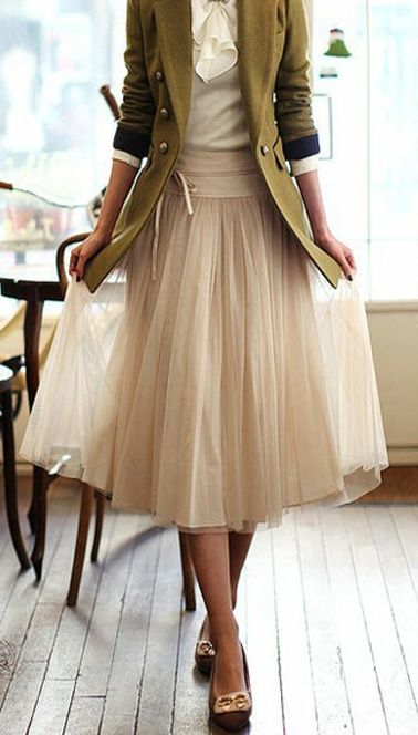 pretty skirt with fitted jacket