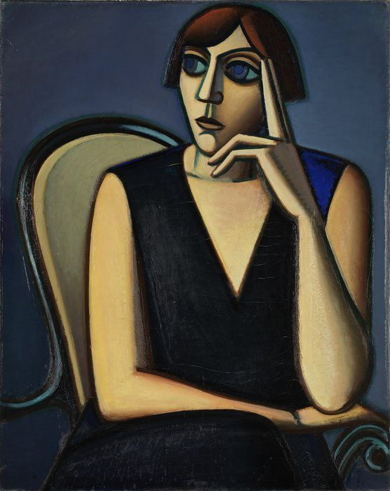 Vilhelm Lundstrøm, Portræt af Tusnelda Sanders, 1928, olie på lærred