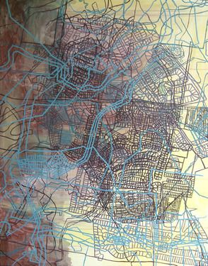 "Saatchi Online Artist Sue Beyer; Unknown, ""Transect"" #art"