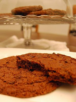 Large chocolate cookie