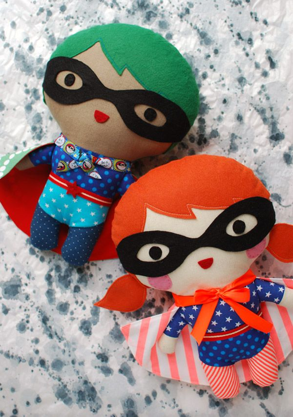 Up in the sky, look: It's a bird. It's a plane. It's (your very own) superhero! Learn how to make a fun, super-cute, superhero softie for your favourite little person. Add personalised details for...