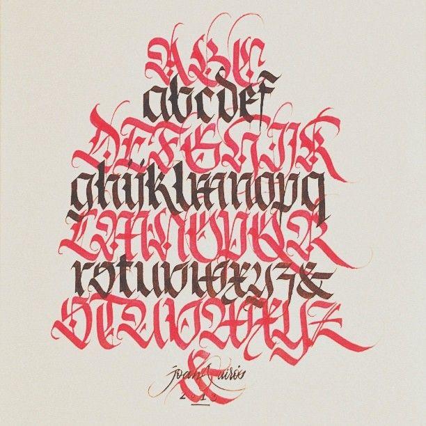 "fraktur calligraphy | joanquiros:"" Fraktur alphabet #calligraphy #vscocam #fraktur # ..."