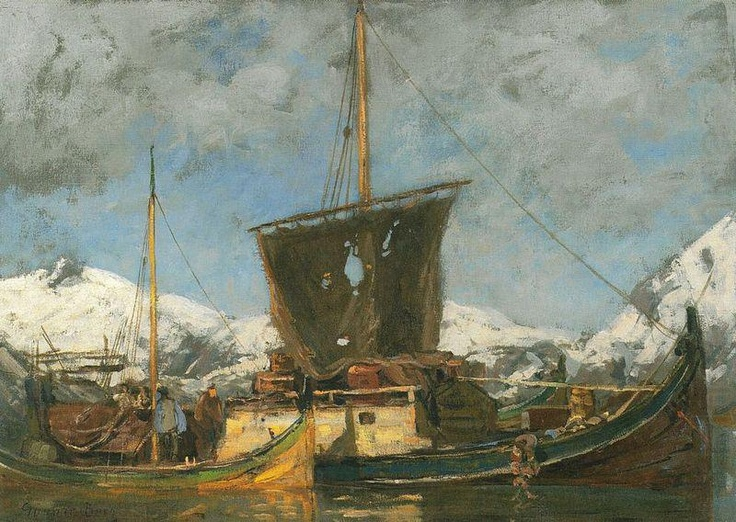 Gunnar Berg (1863-1893): Sjekter ved Nordlandskysten