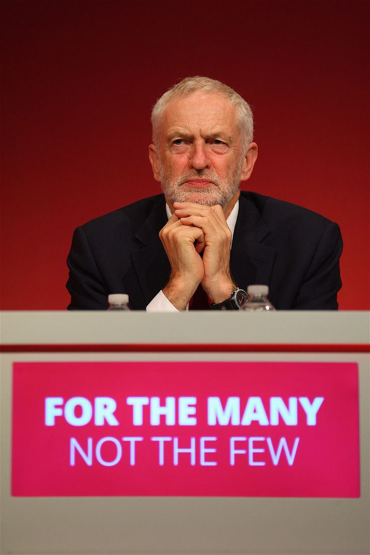 Photo of Jeremy Corbyn leader of the UK Labour Party at the 2017 Conference in Brighton