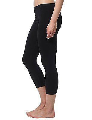 Large (Manufacturer size: Large), Black, Berydale Women's Capri Leggings, matte,