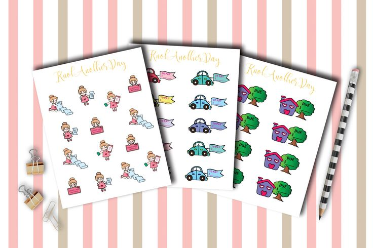 MISU Pay Bills, Car, Rent, Phone and Credit Card Planner Stickers by KnotAnotherDay #pay #bill #car #rent #phone #credit #card #cute #kawaii