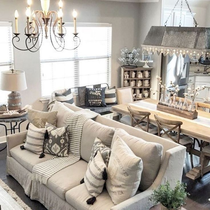 73+ Amazing Rustic Living Room Farmhouse Style Decorating Ideas