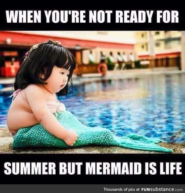 Mermaid life is still the best life! Love swimming in Fin Fun's real swim-able mermaid tails!