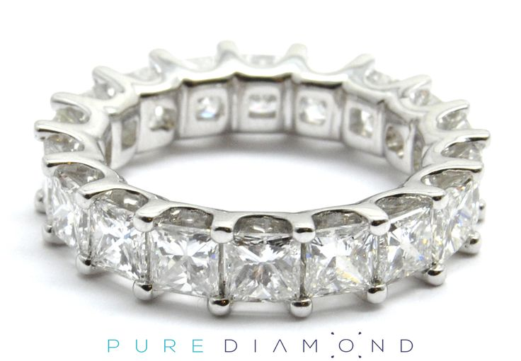 Princess Cut Eternity Band Perfectly Matched. At PureDiamond.ca we have unparalleled friendly service.  If you're in the Greater Vancouver area please call (604) 563-9875 to book an appointment.