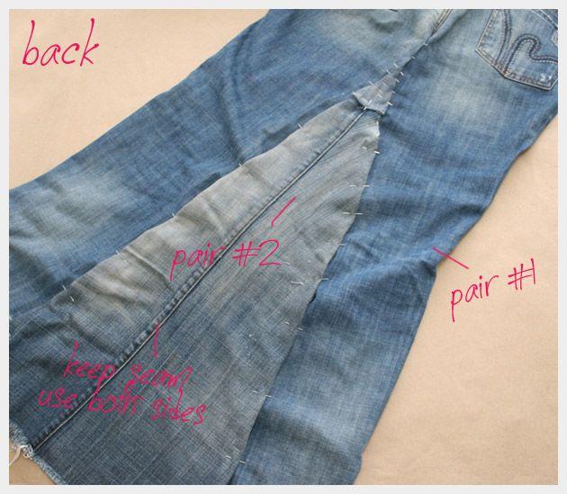 Recycled Denim Maxi Skirt DIY