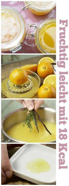 Fruchtiges Geschmackserlebnis für einen sonnigen Tagesstart: Orangen-Thymian-Gelee mit Vanillemark |http://eatsmarter.de/rezepte/orangen-thymian-gelee