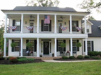 ♥ this - my dream house: Patriotic Porch, Farmhouses Oh, House Ideas, Dream Homes, Southern Porches, Antebellum Style, My Dream House, Dream Houses, Front Porches