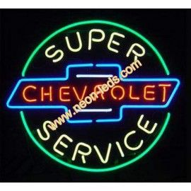 Find best Super Chevrolet  Service Neon Sign for sale, Affordable Super Chevrolet  Service Neon Sign, 2 years of quality warranty, 100% undamage guaranteed