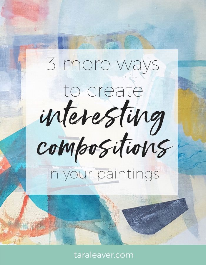Three more ways to create interesting compositions in your paintings. A follow up post to the original one sharing examples of how an awareness of composition guidelines can considerably strengthen your paintings.