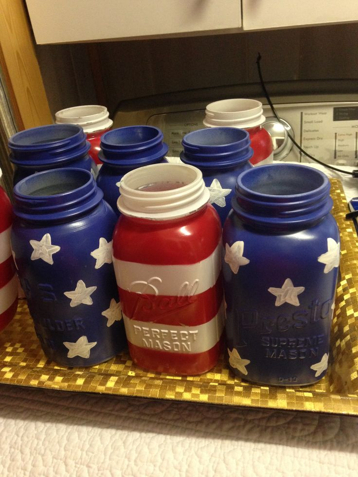 Pinterest project that really turned out good! Very easy! (free hand the stars) red, white and blue party- sending off army party