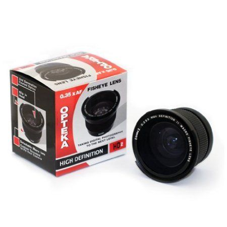 $30 Opteka .35x HD2 Super Wide Angle Panoramic Macro Fisheye Lens for Canon PowerShot S5 IS, S3 IS, & S2 IS - Walmart.com