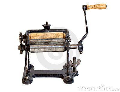 Máquina antigua de las pastas