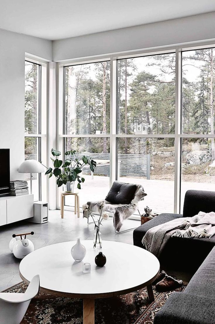 Monochrome Home In Finland