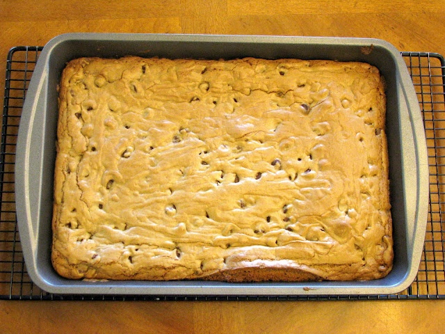 Blonde brownies. I have made these twice now...love em! I is the boys favorite treat!
