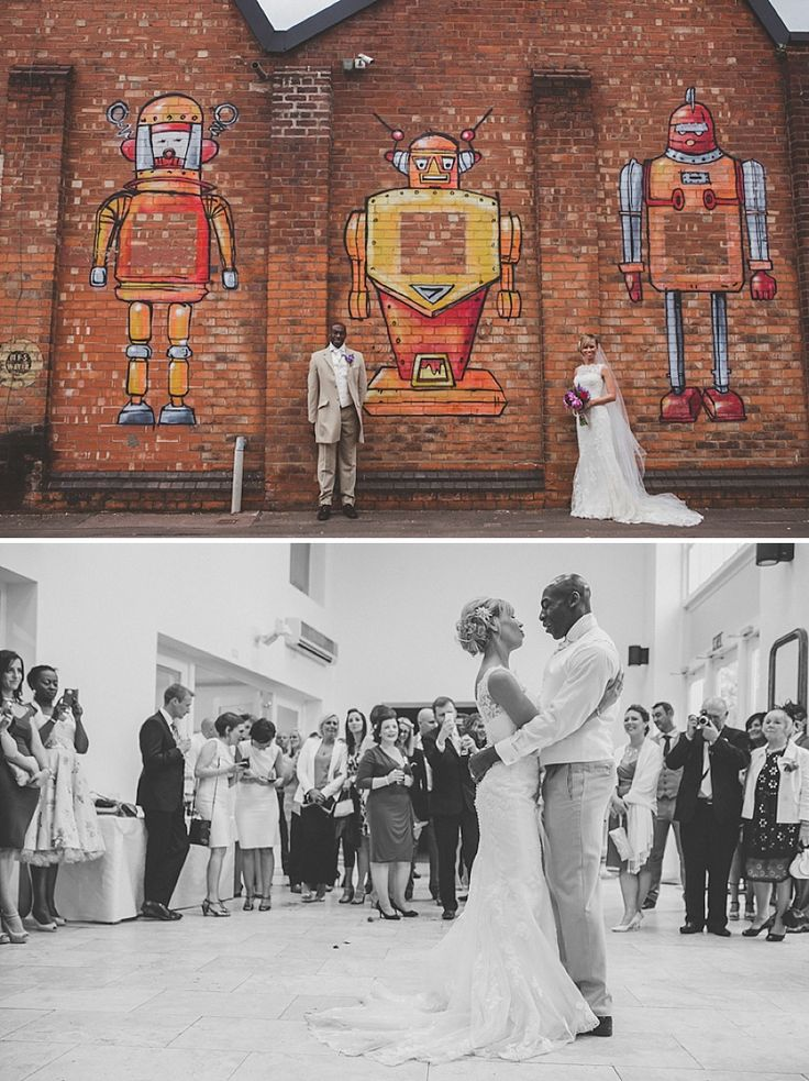 budget wedding photography west midlands%0A A Colourful Contemporary Wedding At Fazeley Studios  Digbeth  Bride in  Justin Alexander Gown  Photography by Jordanna Marston