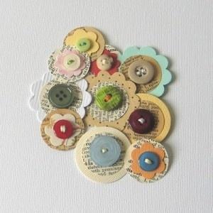 Button Flowers - Bottle Cap Flowers?