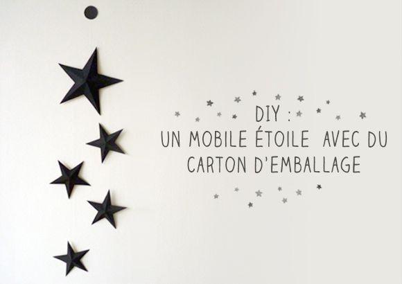 Mobile étoiles par http://www.monbebecheri.com/fabriquer-mobile-enfant/