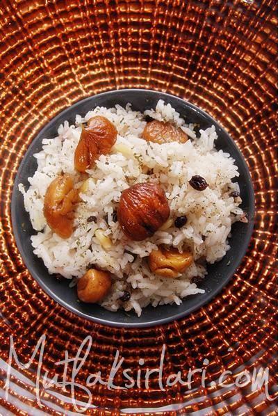 Kestaneli Pilav-İç Pilavı - Tarifin püf noktaları, binlerce yemek tarifi ve daha fazlası...