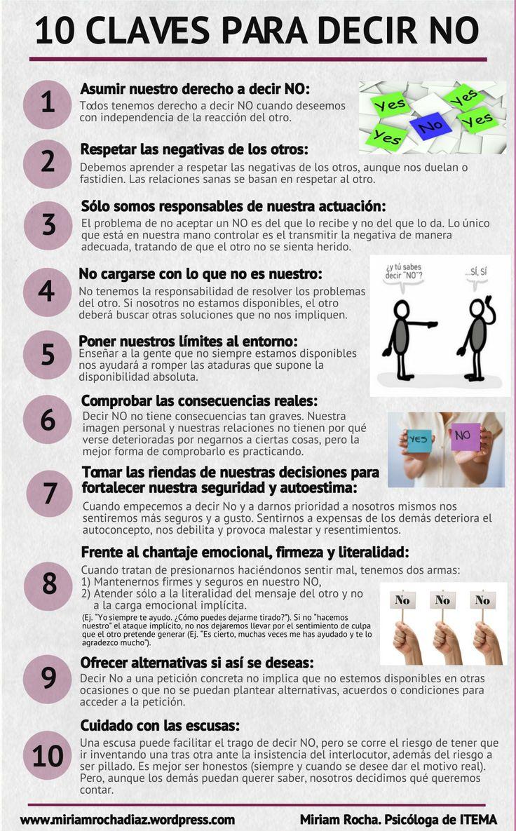 10 claves para decir NO #infografia