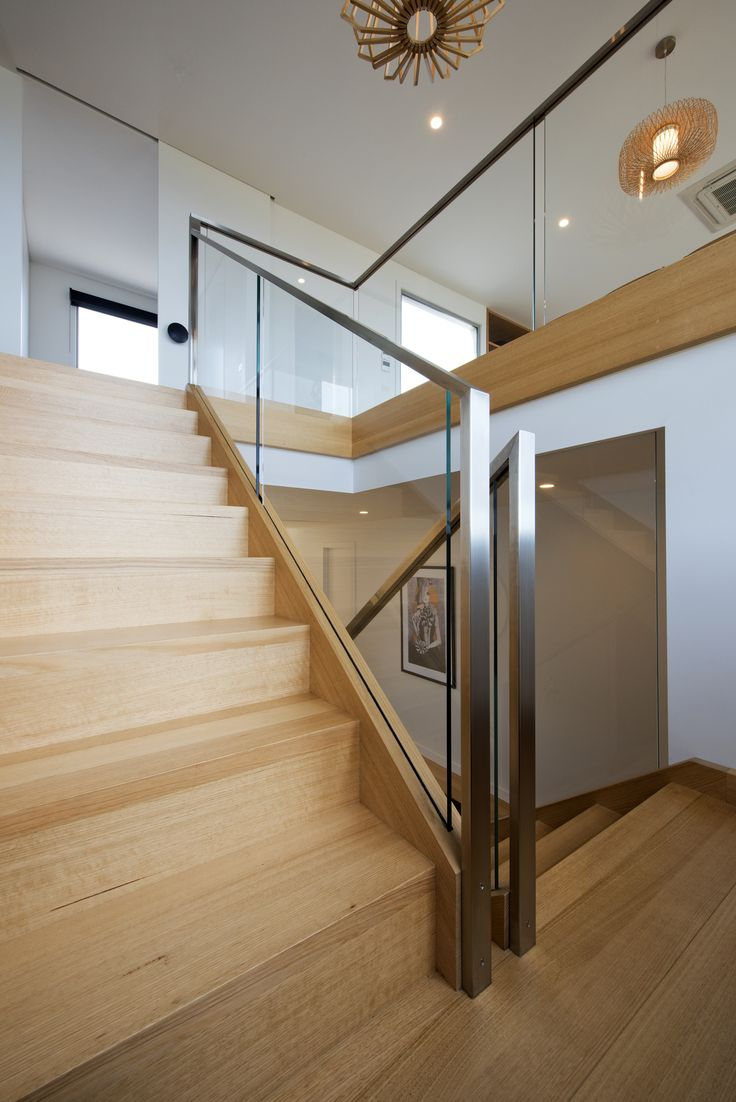 25 best ideas about steel handrail on pinterest steel for Interior glass railing designs