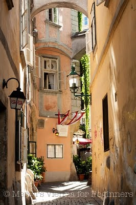 """Griechengasse""   Photographed and © by Merisi Vienna  http://www.viennaforbeginners.com/"